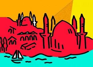 istanbul-red-yellow-driehoekje-+-geel-+-aqua-gr